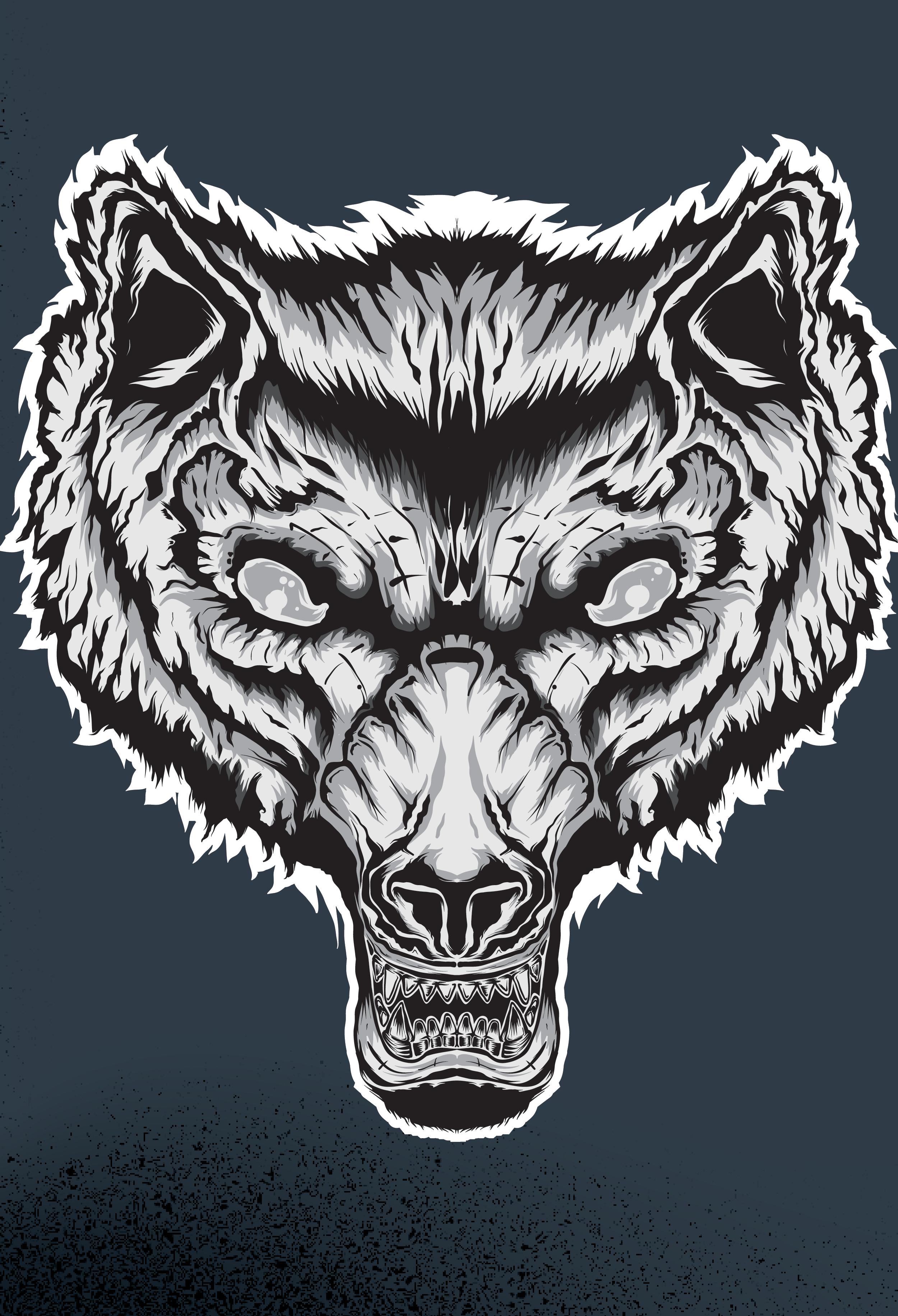 wolfBlackandWhite